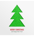 Christmas tree cut out background vector image vector image