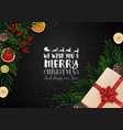 christmas wooden background vector image vector image