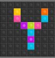 colorful brick block letter y flat design vector image vector image