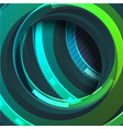 colorful green circle abstract background vector image vector image