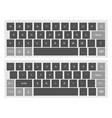 compact black virtual keyboard clipart vector image
