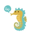 cute cartoon ocean seahorse vector image vector image