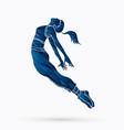 dancing action dancer training vector image vector image