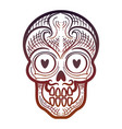 decorative calavera or skull isolated icon vector image vector image