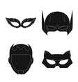 design of hero and mask sign set of hero vector image