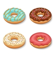 Donut dessert set vector image vector image
