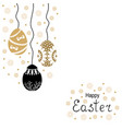easter card with decorative eggs hang vector image vector image