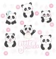 emoji panda vector image vector image