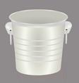 empty bucket vector image vector image