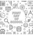 first day school concept minimal linear vector image vector image