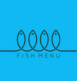 fish menu concept design background vector image vector image