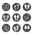 Footprint icons set vector image vector image