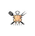 fresh chicken logo vector image