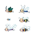 Funny insect cartoon set vector image vector image