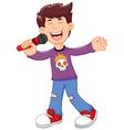 funny man cartoon singing vector image vector image