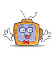 geek tv character cartoon object vector image vector image