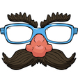 glasses with a mustache vector image vector image