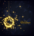 golden christmas balls made with sparkles and vector image vector image
