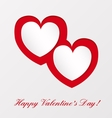 Greeting card on Valentines day vector image