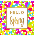 hello spring sale banner vector image vector image