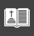 holy book chapter vector image vector image