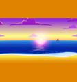 landscape paradise on ocean beach vector image