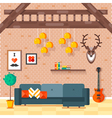 Loft Living Room 2 vector image vector image