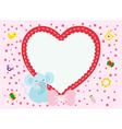Love Elephant New Born Boy vector image vector image