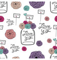 lovely pattern background hand drawn fabric vector image