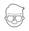 man young character male profile business cartoon vector image