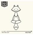 Meditative Animals series - fox vector image vector image