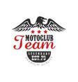 motoclub team logo legendary est 1979 premium vector image vector image