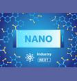 nano industry webpage for scientific laboratory vector image vector image