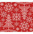 New year knitted northern seamless pattern vector image vector image
