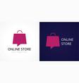 online store logo concept vector image vector image
