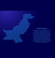 pakistan map abstract schematic from blue ones vector image vector image