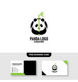 panda logo template free business card mockup vector image