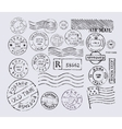 postage stamp vector image vector image