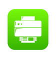 printer icon green vector image vector image