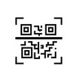 qr code - line design single isolated icon vector image