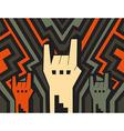 rock hands vector image