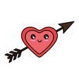 romantic bow arrow vector image vector image