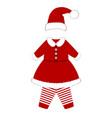 romper suit christmas costume for children vector image