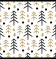 Seamless christmas pattern with with fir trees