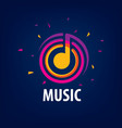 sign music musical notes vector image vector image