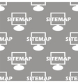 Sitemap seamless pattern vector image vector image