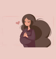 smiling pregnant woman vector image vector image