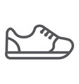 sneakers line icon footwear and fashion sport vector image vector image