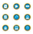 soulless icons set flat style vector image