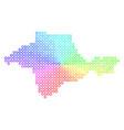 spectrum crimea map vector image vector image
